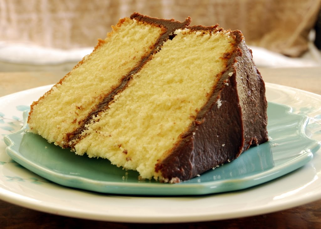 Yellow Butter Cake With Chocolate Frosting Recipes — Dishmaps